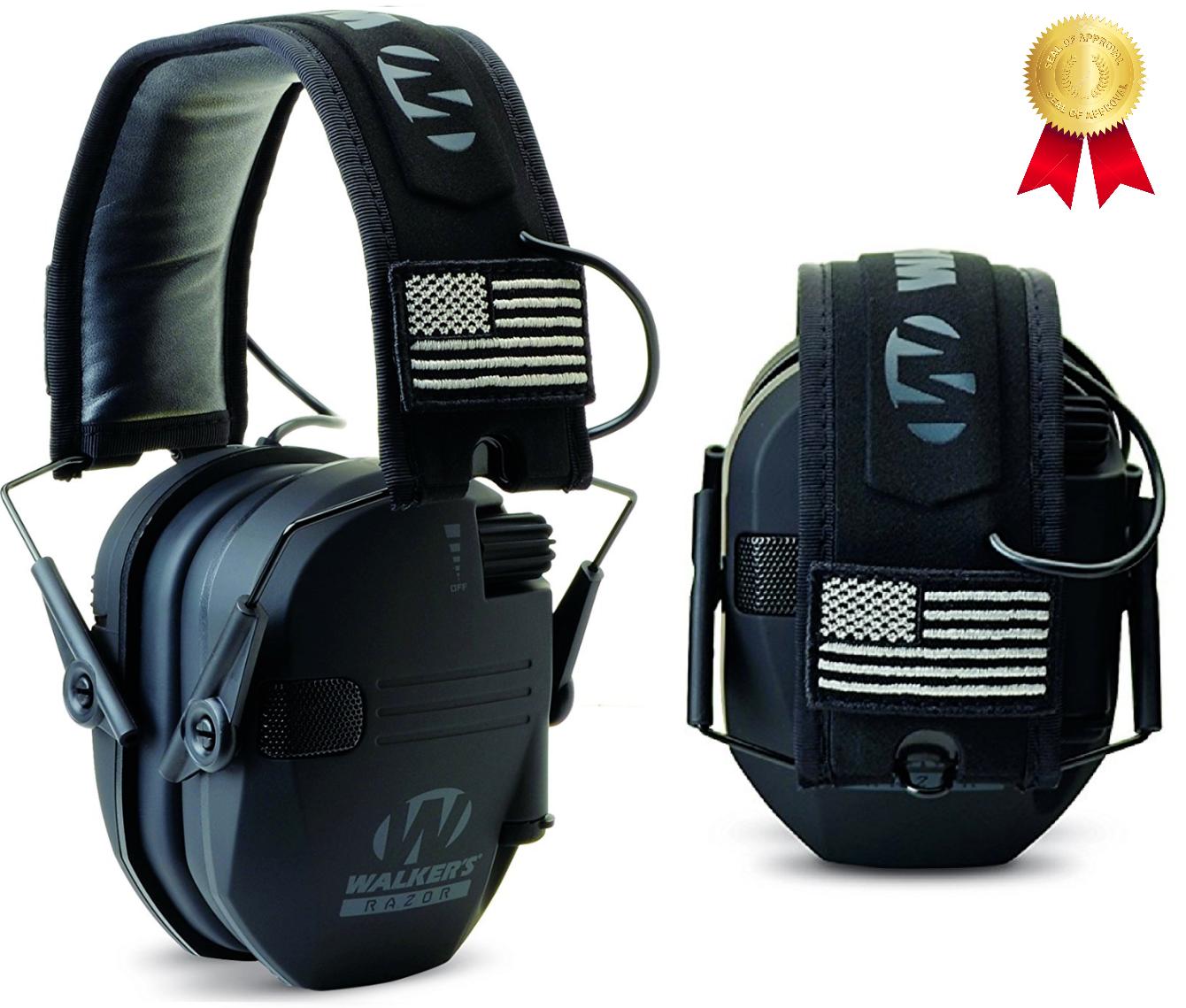 Walker's Muff RAZOR Slim Electronic Hearing Protector 23 dB