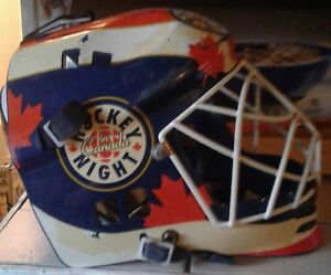 Goalie mask hockey night in Canada mask