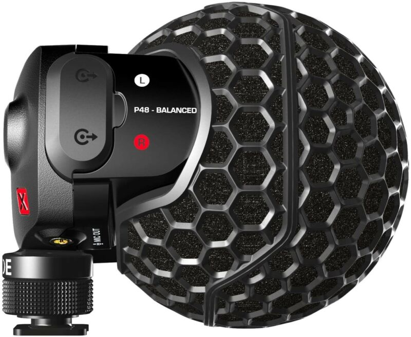 Rode Stereo VideoMic X Broadcast-Grade Stereo On-Camera Microphone SVMX
