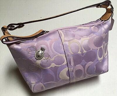 Coach 7440 Soho Optic Lilac Signature Bee Applique Top Handle Wristlet Handbag