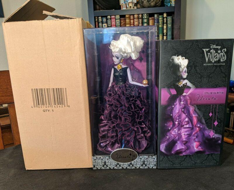 Disney Villains Designer Collection Doll Store Exclusive Ursula w/Original Boxes