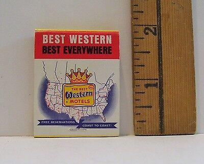 Vintage Best Western Gas Lite Motel Laramie Wyoming Advertising Matchbook
