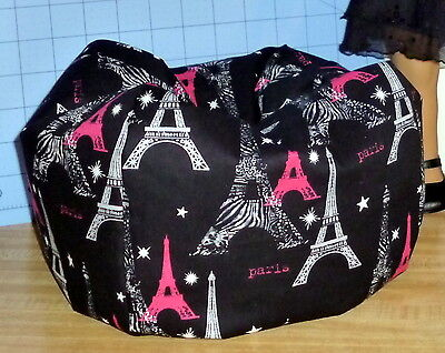 Paris Eiffel Tower black Bean Bag Chair made to fit American Girl Grace dolls