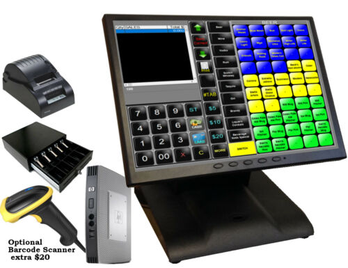 """12"""" Point of sale POS System Register  Restaurant Bar or Retail $239+$35/Month"""