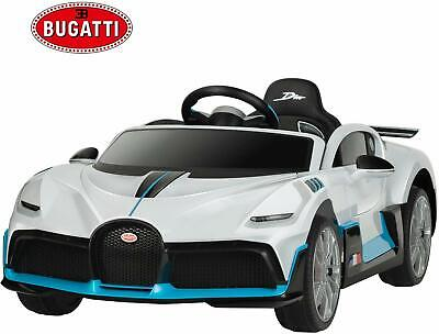 12V Kids Ride on Car Licensed Bugatti Divo Electric Toys w/ RC Safety Lock White