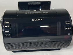 Sony AM/FM Clock Radio Iphone Ipod Dock Alarm ICF-C11iP Black