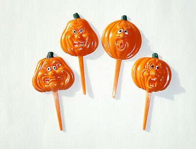 24 Spooky Pumpkin Cupcake Picks Cake Toppers Party Supplies - Halloween Cupcake Supplies