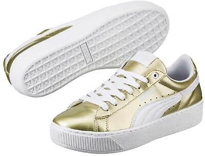 Puma Vikky Damen Sneakers Turnschuhe Laufschuhe 363609 001 Gold Beige Neu