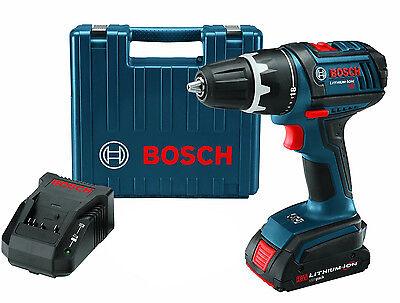 """Bosch Cordless 1/2"""" Drill/Driver Kit 18 Volt Li-Ion NEW"""