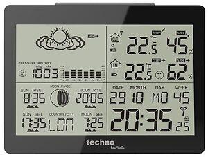 Wetterstation funkgesteuert mit Außentemperatur Vorhersage Luftfeuchtigkeit TOP!