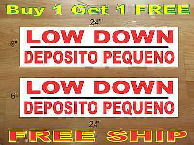 Low Down Deposito Pequeno 6x24 Real Estate Rider Signs Buy 1 Get 1 Free