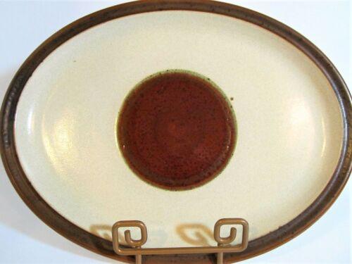 Denby POTTERS WHEEL Rust Oval Serving Platter Mid Century Stoneware Earthenware
