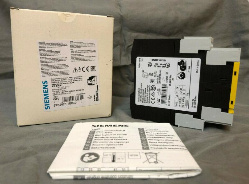 *NEW* Siemens 3TK2825-1BB40 Safety Relay 3TK28251BB40