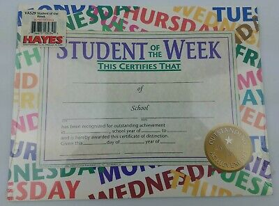 Student of the Week Certificates 36 Pack! Fit's 8
