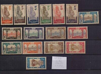 ! Gabon 1910-1918.   Stamp. YT#49/65(-54). €62.90!