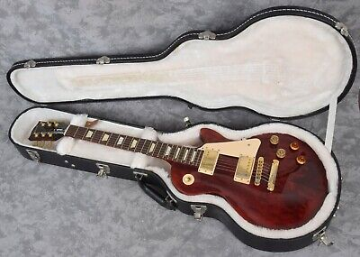 2012 Gibson Les Paul Studio Electric Guitar Limited Trans Red Gold Hardware USA Red Les Paul Guitar