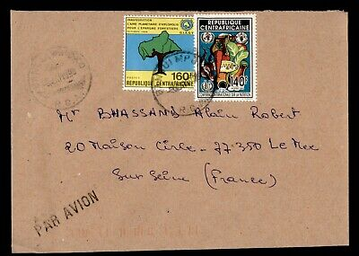 DR WHO 1999 CENTRAL AFRICAN REPUBLIC BANGUI AIRMAIL TO FRANCE  g16504
