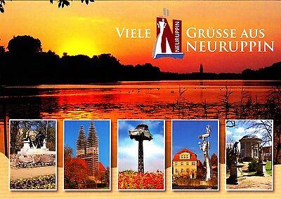 Viele Grüße aus Neuruppin , Ansichtskarte , 2015 gelaufen