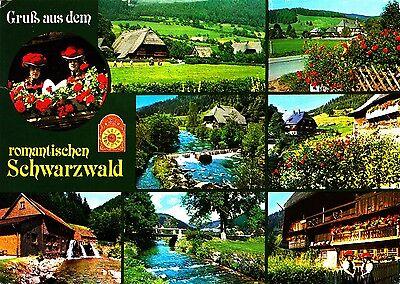 Gruß aus dem romantischen Schwarzwald , Ansichtskarte, gelaufen