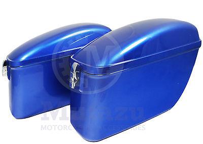 LW Universal Hard Bag Saddlebags For Honda Suzuki Kawasaki Harley Yamaha Victory