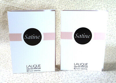 Lalique - Lot of (2) Satine Eau de Parfum Splash Samples - 0.06 oz.ea.