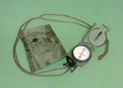 US Military Issue Cammenga 3H Tritium Lensatic Compass & Pouch OD Green