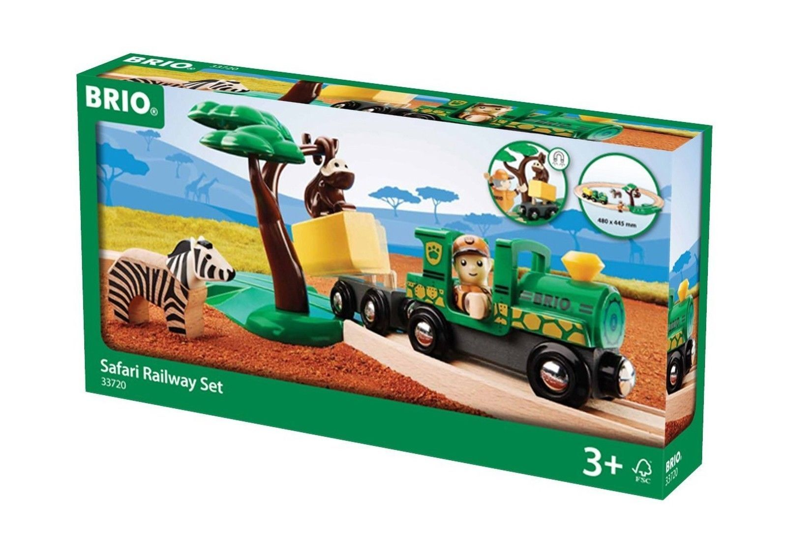 BRIO Safari Railway Set Train Set
