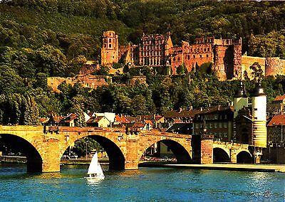 Sommertag in Heidelberg  Ansichtskarte 1982 gelaufen