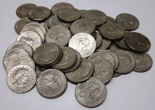 50 Circulated Susan B. Anthony Dollar Coins