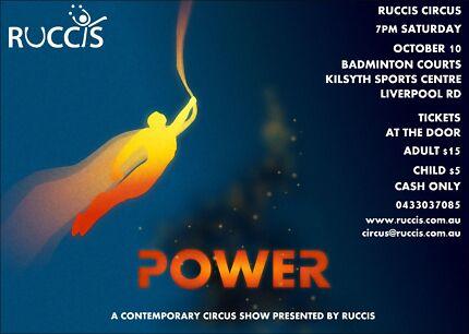POWER!  A Contemporary Circus Cabaret Kilsyth Yarra Ranges Preview