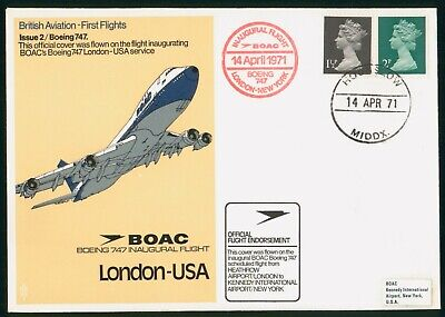 MayfairStamps Great Britain First Flight Cover 1971 London to New York New York