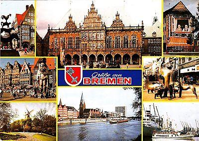 Grüße aus Bremen , Ansichtskarte 1995 gelaufen