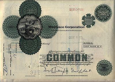 Westvaco Corporation Stock Certificate  West Virginia Pulp & Paper