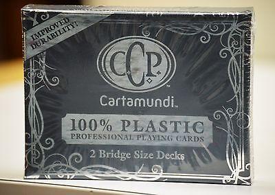 Cartamnudi Bridge Size Plastic Playing Cards Deck (Red & Blue)