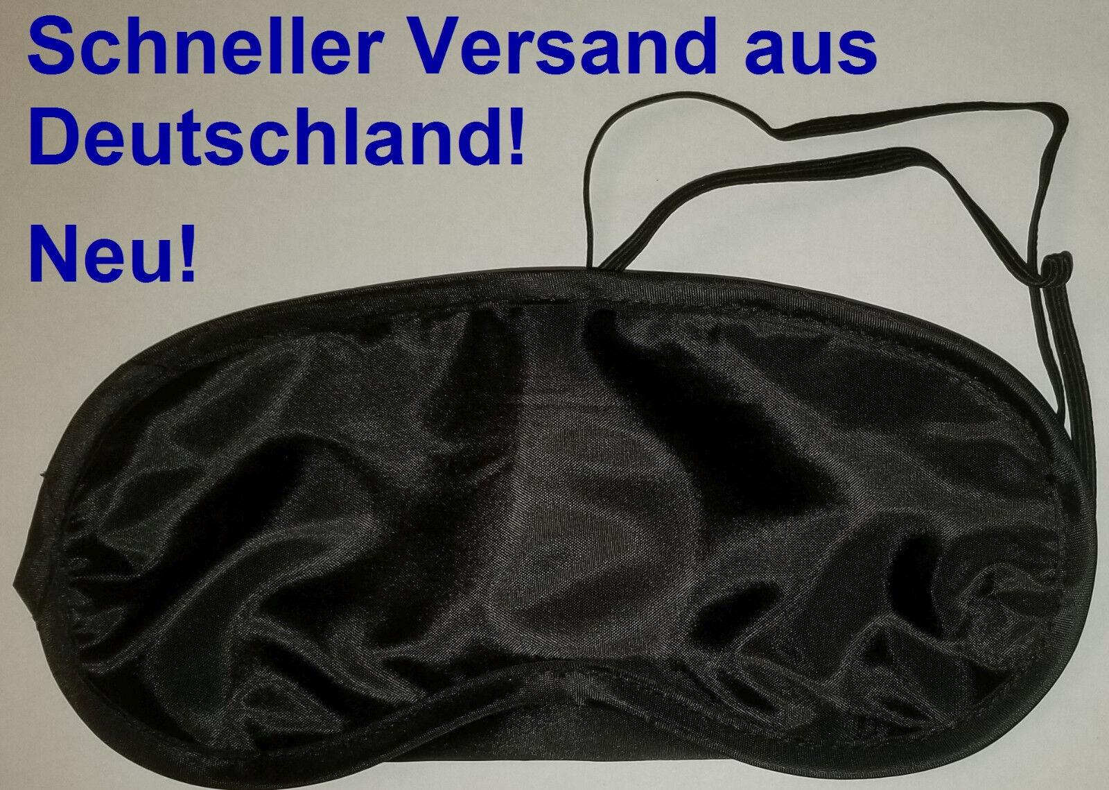 10 Schlafbrillen Augenmasken Schlafmasken Augenbinden schwarz neu-Versand aus D
