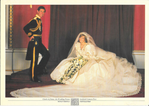 Prince Charles Princess Diana the Wedding royalty monthly Photo