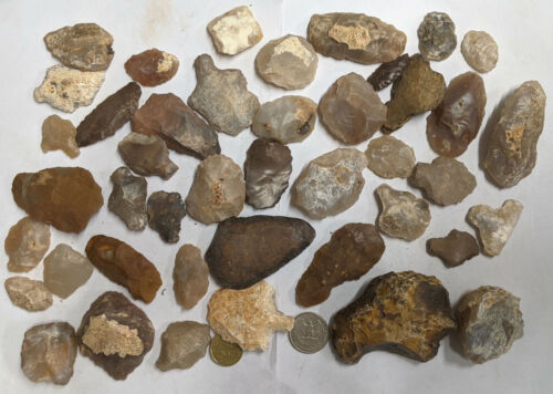 800 Grams NEOLITHIC & PALEOLITHIC Stone age Tools and Artifacts (#A1052)