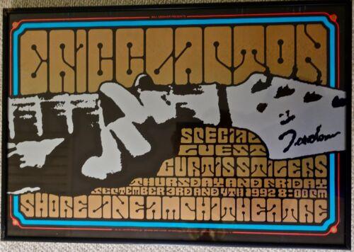 ERIC CLAPTON  --  Framed BGP Poster -- Sept. 3-4, 1992 -- Shoreline Amphitheatre