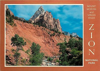 Virgin River Zion National Park (Mt. Moroni & Virgin River Zion National Park Canyon UTAH Postcard)