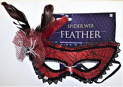 Amscan Damen Spider Maske für Kostüm Maskenball Spinne Strass  Karneval (Kostüm Für Maskenball)