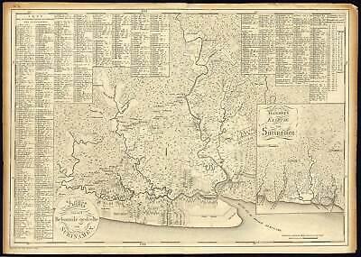 Rare Antique Map-SURINAME-SURINAM-PLANTATIONS-Bosch-Baarsel-1818