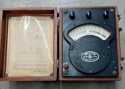 Weston Voltmeter 0-150 And 0-300 Range - Vintage