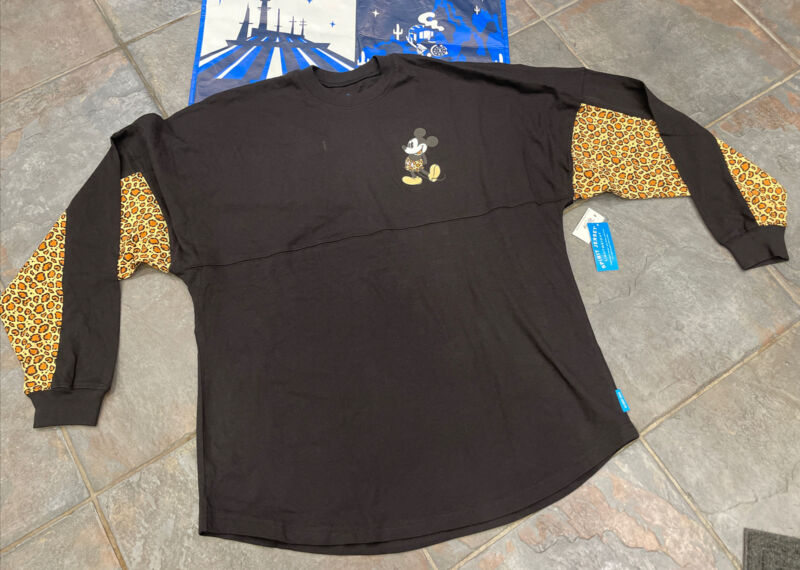 Disney Parks Animal Kingdom Leopard/Black Spirit Jersey Adult Large (L) Wow🔥