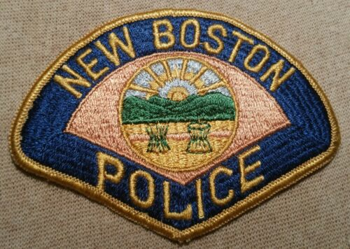 OH New Boston Ohio Police Patch