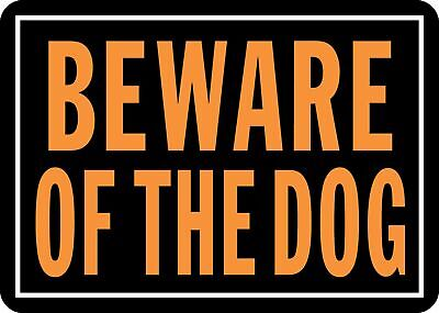 Beware of Dogs Sign Dog Aluminum Metal Fence Yard Warning Security Poster 10x14