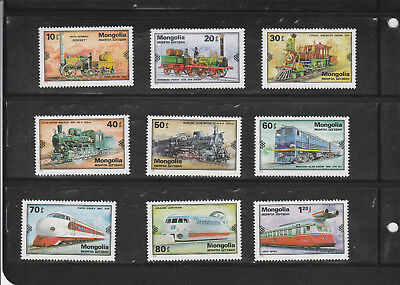 1979 Mongolia, Development of Railways, complete set of 9, MNH for sale  Shipping to India