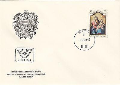 Österreich  FDC Ersttagsbrief 1978 Weihnachten Mi.Nr.1591