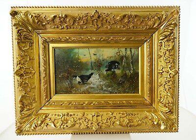 Gemälde: Auerhahn und Hennen im Wald, Julius SCHEUERER (1859-1913)        Nr.2