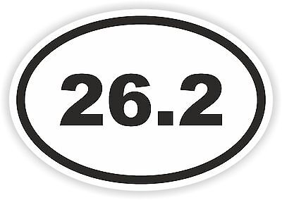 (26.2 Oval Sticker Running Marathon Runner Mile Run for Bumper Fridge Laptop Book)