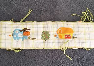 Double Sided Full Length Baby Crib/Cot Bumper - Animal Farm Design Glenwood Blacktown Area Preview
